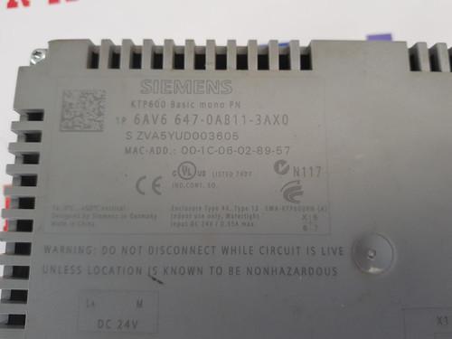 6AV6647-0AB11-3AX0,6AV6 647-0AB11-3AX0  KTP600 Siemens operator panel