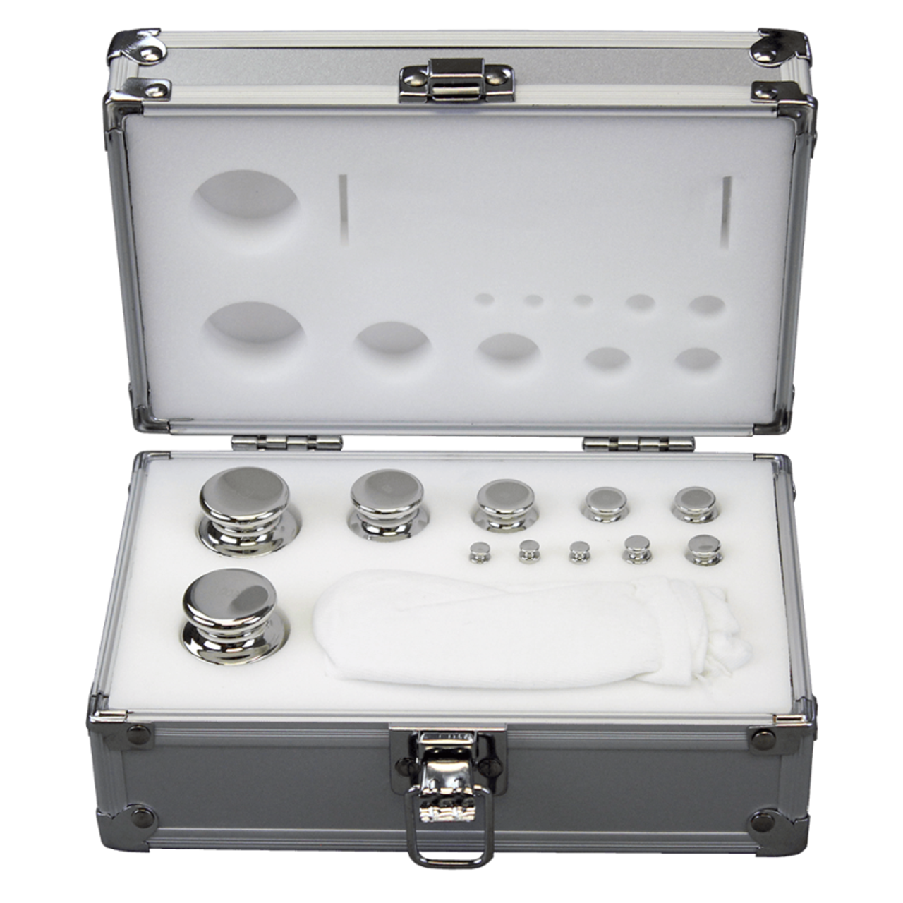 1g to 200g Ohaus Stainless Steel 11 Piece ASTM Class 1 NVLAP Certified Calibration Weight Set