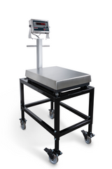 Rice Lake BenchMark MSC-10 Mild Steel Scale Cart shown with BenchMark Scale