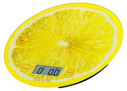 Taylor 3823LE Lemon Citrus Glass Digital Kitchen Scale