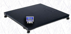 WeighSouth WS2500XL10 3' x 3' Floor Scale with WS10 Indicator, 2500 lb x 0.5 lb, NTEP