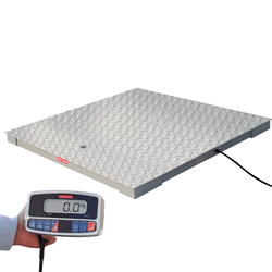 Tor Rey PLP-4/4-2500/5000 4' x 4' Floor Scale Package with WI Indicator, 5000 lb x 1 lb, NTEP
