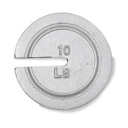 Troemner 10 lb Cast Iron Slotted Weight, NIST Class F