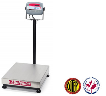 OHAUS D31P60BL Defender 3000 Bench Scale, 132 lb x 0.02 lb, NTEP, Class III