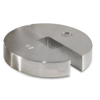 Rice Lake 1 lb Stainless Steel Slotted Hanger Weight, ASTM Class 5, 12574