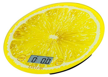 Taylor 3823LE Lemon Citrus Glass Digital Kitchen Scale