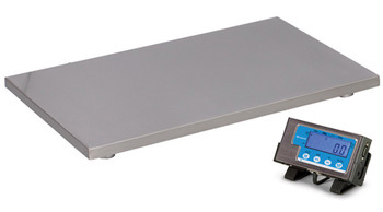 "Brecknell PS500-22 Floor Scale, 22"" x 22"", 500 lb x 0.2 lb"