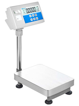 Adam Equipment BKT 660a Floor Scale with Integrated Printer, 660 lb x 0.05 lb