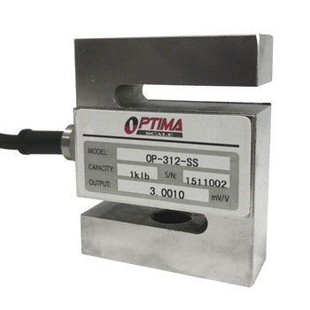 Optima OP-312-SS-3 3000 lb Stainless Steel S-Beam Load Cell, NTEP