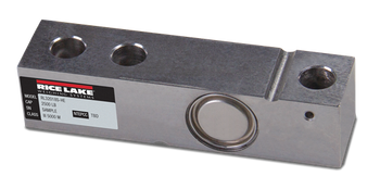 Rice Lake Weighing Systems RL32018S-HE 10,000 lb Stainless Steel Single Ended Beam Load Cell (Non NTEP)