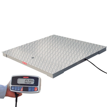 Tor Rey PLP-5/5-5000/10000 5' x 5' Floor Scale Package with WI Indicator, 10,000 lb x 2 lb, NTEP