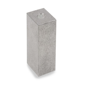Troemner 1 lb Stainless Steel Cube Weight, NVLAP Accredited Certificate, NIST Class F