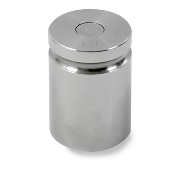 Troemner 1 lb Stainless Steel Cylindrical Weight, NVLAP Accredited Certificate, NIST Class F