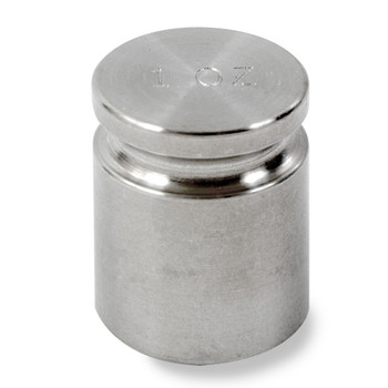 Troemner 1 oz Stainless Steel Cylindrical Weight, Traceable Certificate, NIST Class F
