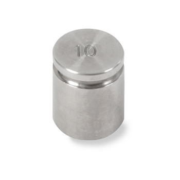 Troemner 10 g Stainless Steel Cylindrical Weight, NIST Class F
