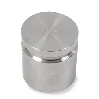 Troemner 100 g Stainless Steel Cylindrical Weight, NVLAP Accredited Certificate, NIST Class F