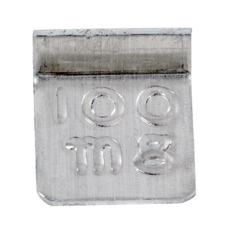 Troemner 100 mg Aluminum Flat Weight, NVLAP Accredited Certificate, NIST Class F