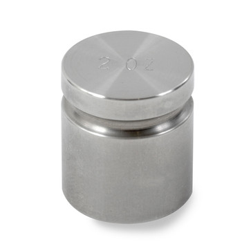 Troemner 2 oz Stainless Steel Cylindrical Weight, NVLAP Accredited Certificate, NIST Class F