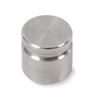 Troemner 20 g Stainless Steel Cylindrical Weight, NIST Class F