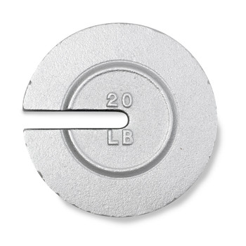 Troemner 20 lb Cast Iron Slotted Weight, NIST Class F