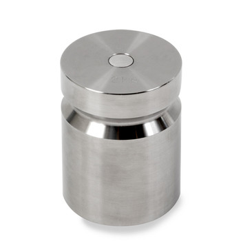 Troemner 2000 g Stainless Steel Cylindrical Weight, NVLAP Accredited Certificate, NIST Class F