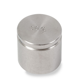 Troemner 30 g Stainless Steel Cylindrical Weight, Traceable Certificate, NIST Class F