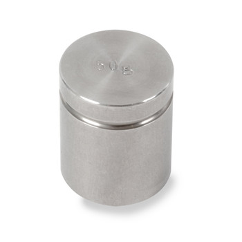 Troemner 50 g Stainless Steel Cylindrical Weight, NVLAP Accredited Certificate, NIST Class F