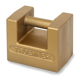 Troemner 50 kg Cast Iron Grip Handle Weight, Traceable Certificate, NIST Class F
