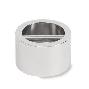 Troemner 5 kg Stainless Steel Cylindrical Weight with Recessed Grip Handle for Easy Handling