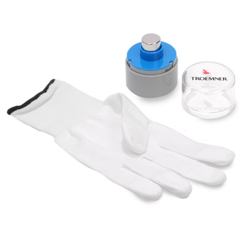 Troemner 50 g Stainless Steel Cylindrical Weight with Polycarbonate Case and Glove
