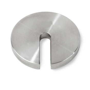 Troemner 0.1 N Stainless Steel Slotted Weight, No Certificate, ASTM Class 7