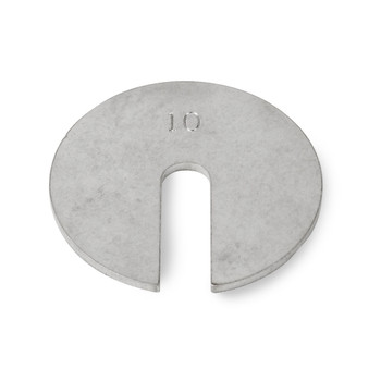 Troemner 10 g Stainless Steel Slotted Weight, No Certificate, ASTM Class 7