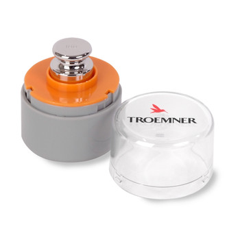 Troemner 100 g Alloy Cylindrical Screw Knob Weight, NVLAP Accredited Certificate, OIML Class E1
