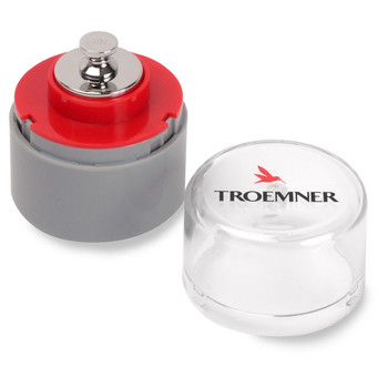 Troemner 100 g Alloy Cylindrical Screw Knob Weight, Traceable Certificate, UltraClass