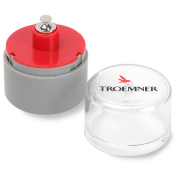 Troemner 10 g Alloy Cylindrical Screw Knob Weight, NVLAP Accredited Certificate, UltraClass