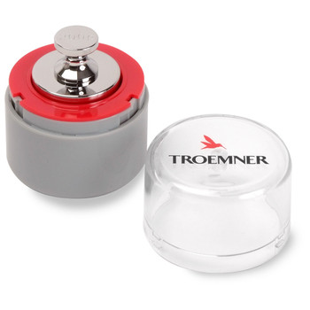 Troemner 200 g Alloy Cylindrical Screw Knob Weight, NVLAP Accredited Certificate, UltraClass