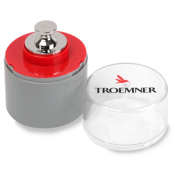 Troemner 500 g Alloy Cylindrical Screw Knob Weight, NVLAP Accredited Certificate, UltraClass