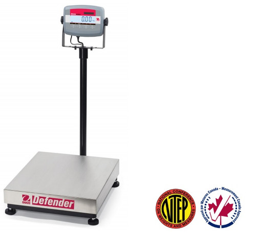 OHAUS D31P60BR Defender 3000 Bench Scale, 132 lb x 0.02 lb, NTEP, Class III