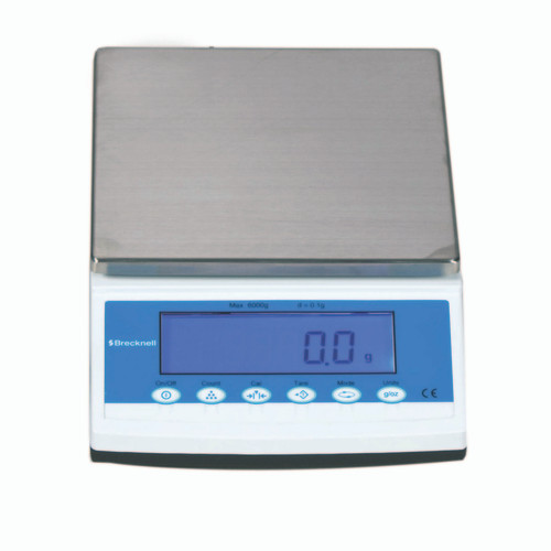 Brecknell MBS-6000 Precision Lab Balance, 6000 g x 0.1 g (Front)