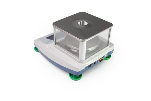 Tree TSC-313 Touch Screen Precision Balance - Back View with Draft Shield