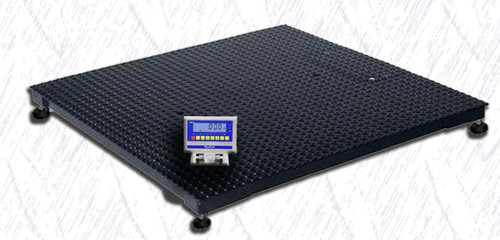 WeighSouth WS5000XL10 4' x 4' Floor Scale with WS10 Indicator, 5000 lb x 1 lb, NTEP