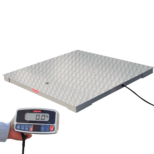 Tor Rey PLP-5/5-2500/5000 5' x 5' Floor Scale Package with WI Indicator, 5000 lb x 1 lb, NTEP
