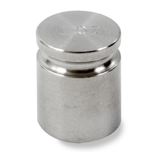 Troemner 1 oz Stainless Steel Cylindrical Weight, NIST Class F