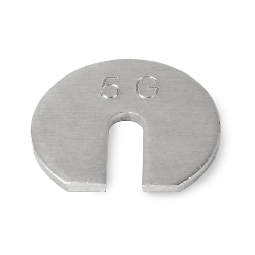 Troemner 5 g Aluminum Slotted Weight, No Certificate, ASTM Class 7