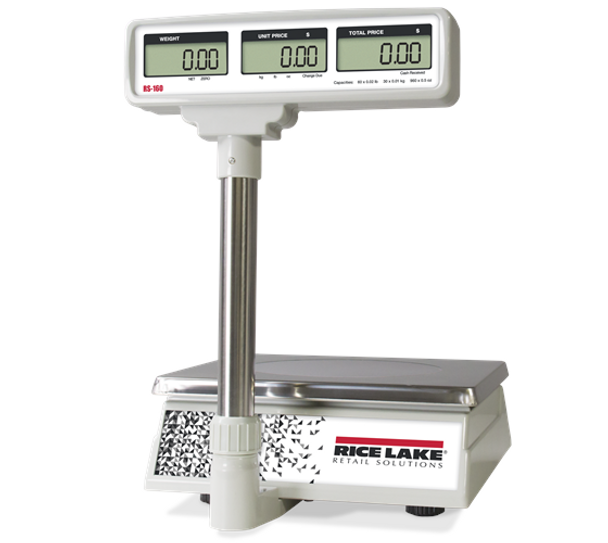 Rice Lake RS-160 Price Computing Scale with Pole Mount Display