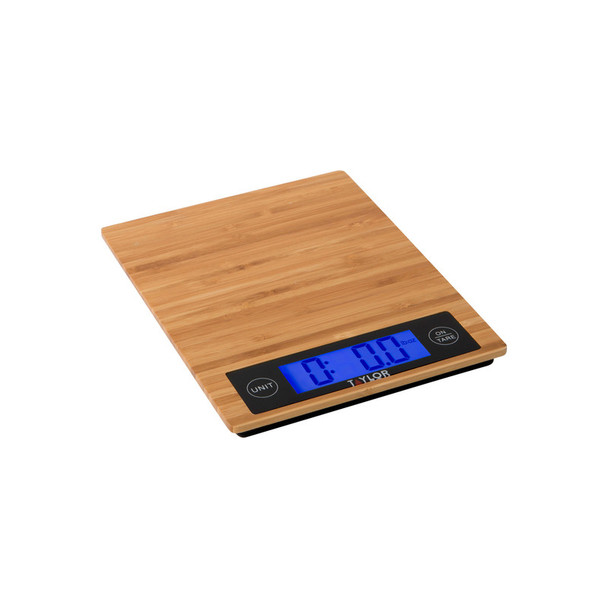 Taylor 382821 Eco-Friendly Bamboo Digital Kitchen Scale