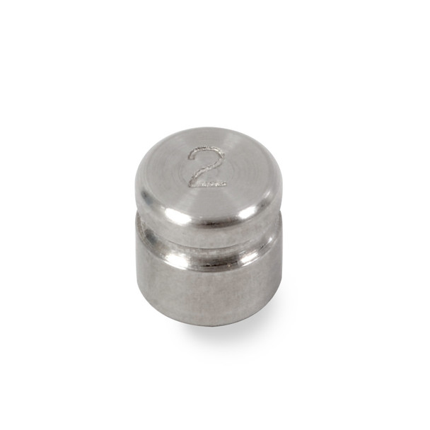 Troemner 2 g Stainless Steel Cylindrical Weight, NVLAP Accredited Certificate, NIST Class F