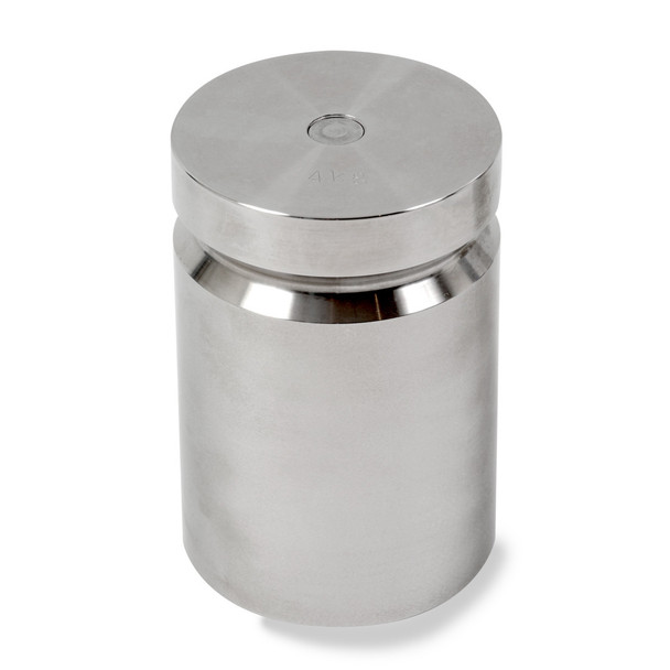 Troemner 4000 g Stainless Steel Cylindrical Weight, Traceable Certificate, NIST Class F
