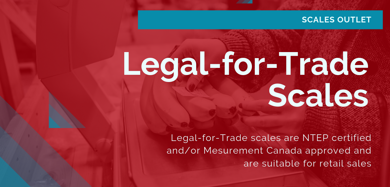 Legal-for-trade scales are used when selling materials by weight.