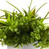Mixed Artificial Eucalyptus Grass Arrangement  in White Ceramic Vase(Green)